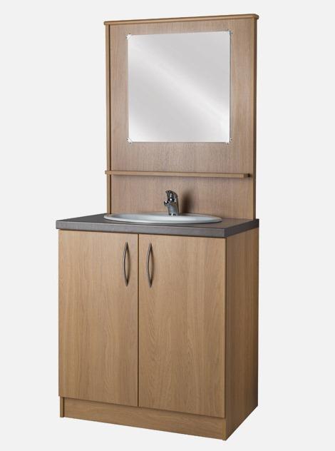 Carechair Vanity Unit Back Panel